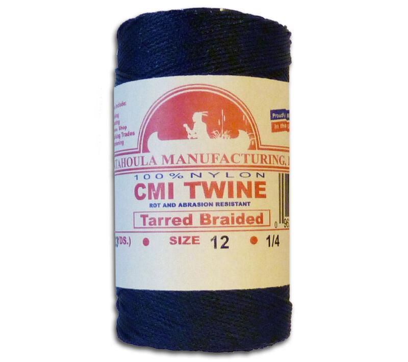Catahoula No 12 Tarred Braided Nylon AA Seine Twine Spool 394 ft Bank Line 95 lb