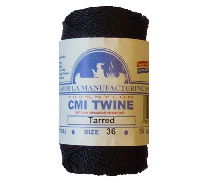 Catahoula No 36 Tarred Twisted Bank Line 4 oz Spool 122 ft Nylon AA Seine Twine