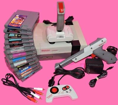 Lot Nintendo Nes Console Set System   Many Games Controls Bundle Refurbished