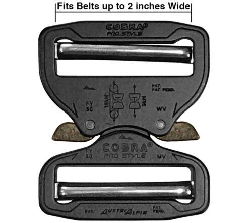 AustriAlpin 50mm Cobra Buckle Quick Release Dual Adjustable No Sew for Duty Belt