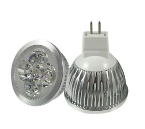 cree gu10 mr16 g5 3 led bulbs 4x3w 12w home indoor spotlight lamp downlight ebay. Black Bedroom Furniture Sets. Home Design Ideas