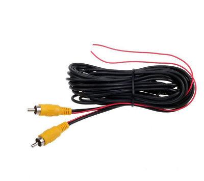 Rückfahrkamera Anschlusskabel Video 5 METER KABEL Chinch 12V Stromversorgung DC