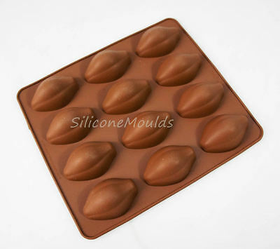12 cell Cocoa Pod Cacao Chocolate Candy Chocolatiers Silicone Bakeware Mould Raw