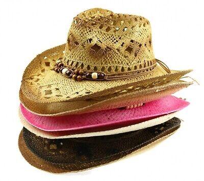 Cowgirl Summer Western straw Hat Cowboy Rodeo Wild Fashionable Sun Beach Cap  Stylish Straw Cowboy Hat