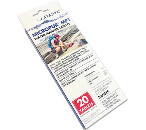 MicroPur MP1 Katadyn Water Purification Tablets 20 pack