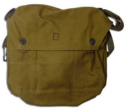 Finnish Gas Mask Bag Tan Brown 5col Finland Military Surplus Shoulder Satchel