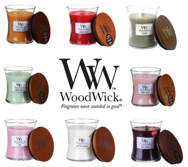 SALE WoodWick Scented Candle Medium Jars - Regular & Christmas Fragrances