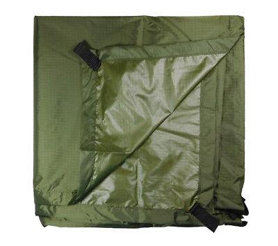 "5col Ultralight Tarp OD RipStop Nylon Backpacking Rain Fly Shelter 4'6""x7'"