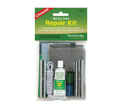 Coghlans Tent Repair Kit Nylon Mosquito Net Patches Seam Seal Thread and More