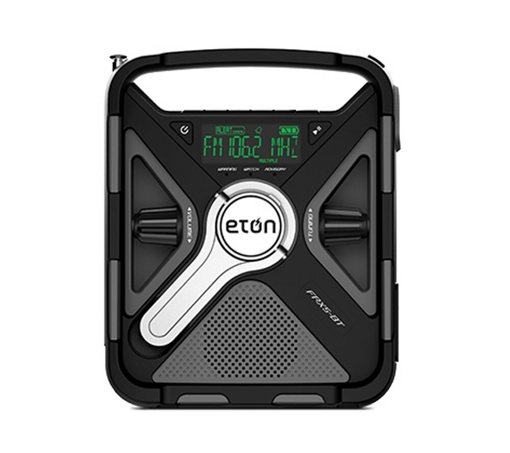 Eton Black Tri-Power Rugged Bluetooth Smartphone Charging We