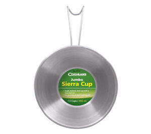 Jumbo Stainless Steel Sierra Cup Coghlans Camping Cookware Backpacking Bushcraft