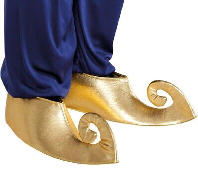 Ladies Mens Gold Aladdin Genie Arabian Shoe Covers Costume Outfit Accessory](Arabian Ladies Costumes)
