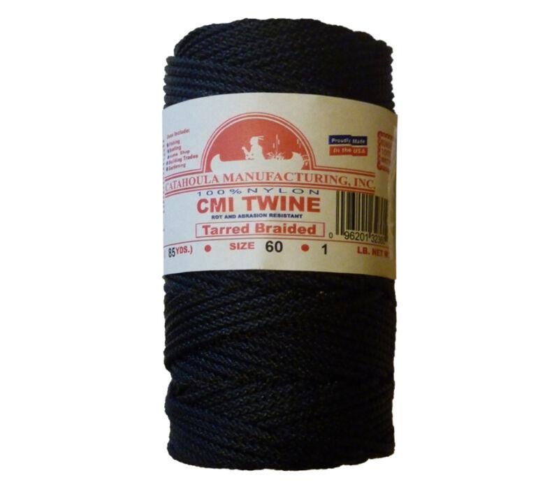 Catahoula No 60 Tarred Braided Bank Line 1 lb Spool 244 ft Nylon AA Seine Twine