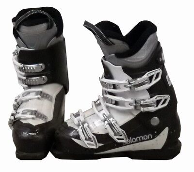 Salomon Divine 550 Womens Ski Boots Mondo 24.5 Womens 7.5 Wht/Brwn/Silvr - USED