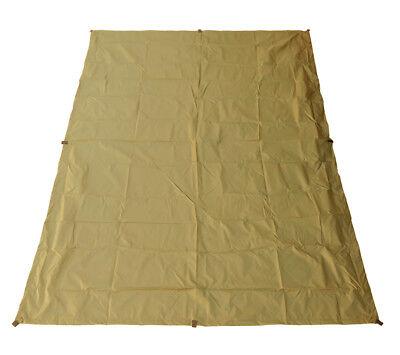"5col Ultralight Tarp Coyote RipStop Nylon Backpacking Rain Fly Shelter 4'6"" x7'"
