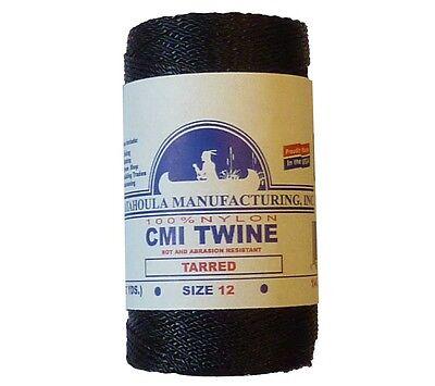 Catahoula No 12 Tarred Twisted Bank Line 4 oz Spool 395 ft Nylon Twine
