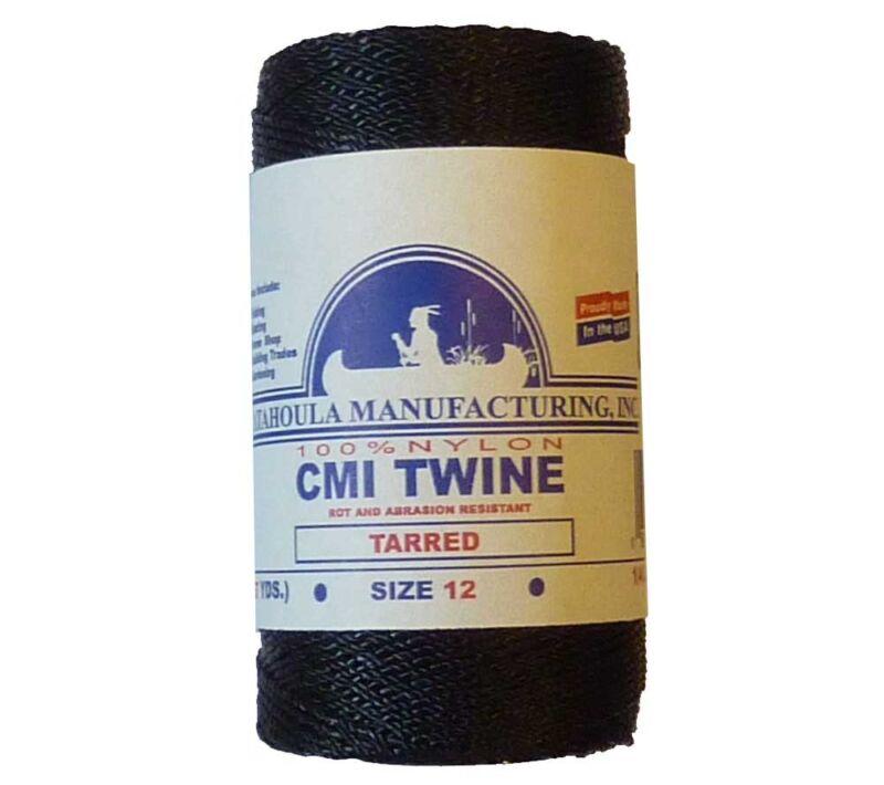 Catahoula No 12 Tarred Twisted Bank Line 4 oz Spool 411 ft Nylon AA Seine Twine