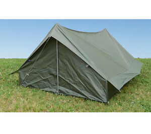 F1 Pup Tent Olive Drab French Military Surplus Integral Fly Backpacking Shelter  sc 1 st  eBay & Pup Tent | eBay