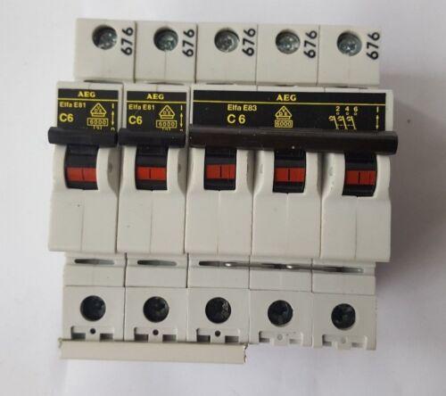AEG ELFAE83 W/ (X2) ELFAE81 CIRCUIT BREAKER (R4S10.7B1)