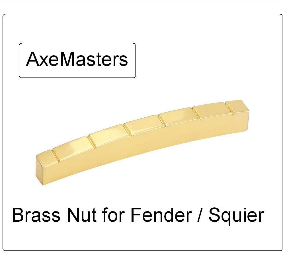 """AxeMasters 41mm 1 5//8/"""" CURVED COMPENSATED BONE NUT for Fender Guitar"""