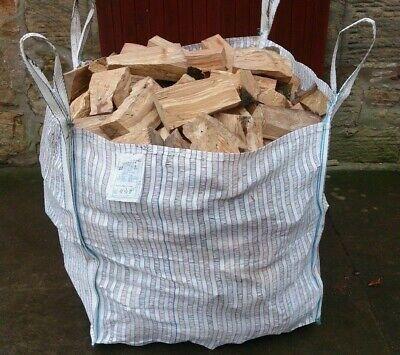 15 LOG BULK BAGS 90x90x90 Vented Firewood Oak Sacks Ton Mosquito Net Dumpy Tonne