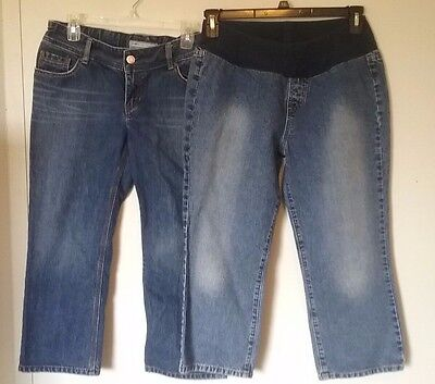 Women's Maternity denim capris size Medium, Motherhood, Old Navy -17