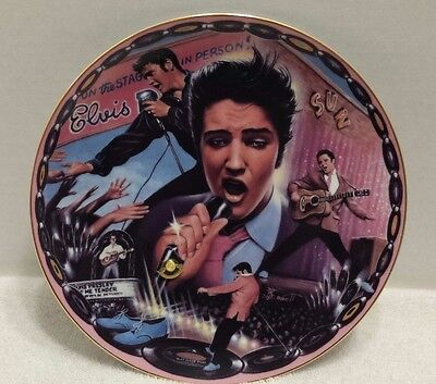 Elvis Blue Suede Shoes Musical Plate