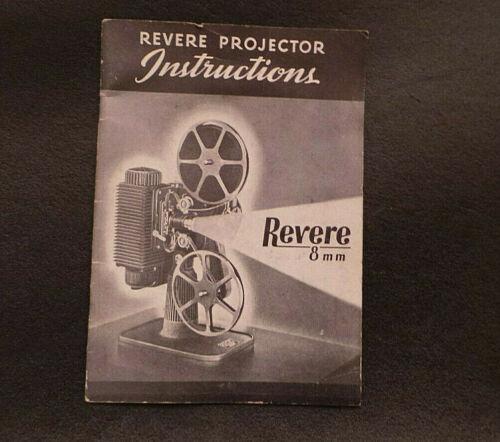 Vintage Revere 8 mm Projector Instruction Manual 1945 VG+