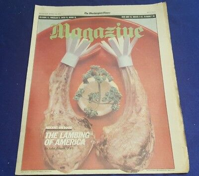 March 16Th 1983 Washington Times Magazine Newspaper Insert Lambing Of America