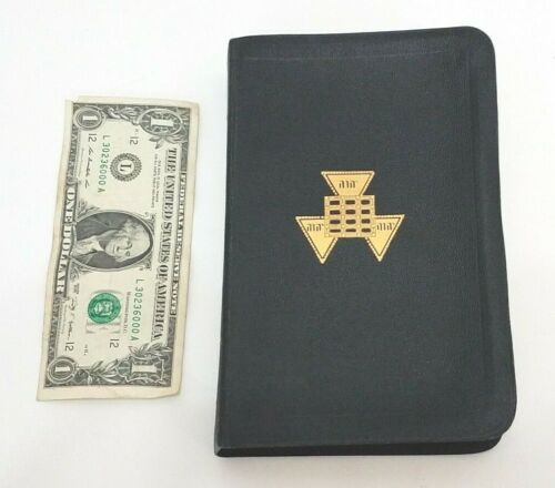 Masonic Vintage Bible Leather Cover - Holman 1957 - The Great Light In Masonry