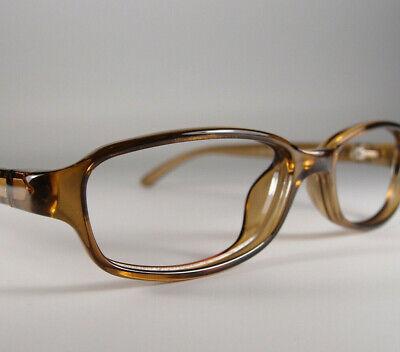 Vintage Gucci GG 1197 Optyl Eyeglasses Frames Italy Amber Rectangular Glasses