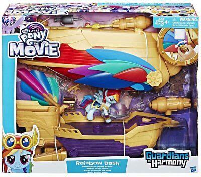 Rainbow Dash Movie (My Little Pony The Movie, Rainbow Dash Swashbuckler Pirate Ship)
