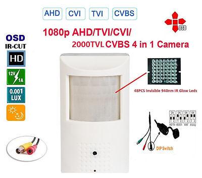 HD-AHD Spy Motion Detector 2.4MP 1080p HD 3.7mm Camera  (4 in one camera) Spy Camera Motion Detector