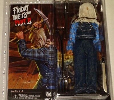 NECA Friday 13th part 2 JASON VOORHEES retro cloth sack bag head action figures