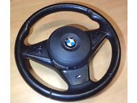 BMW E60 5 series steering wheel and airbag
