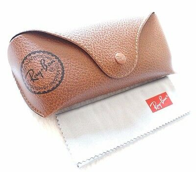 Ray ban Brand new leather case only Brown with cleaning cloth