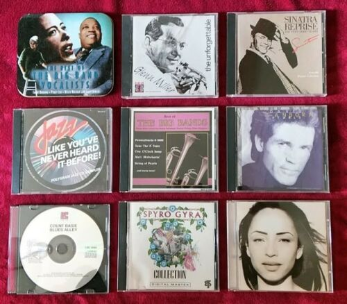 Lot of 9 Jazz CDs mix of years and styles