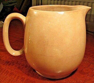 Large Cranberry Jug 2.5 Pints Ceramic 1920 s or 30 s Vintage
