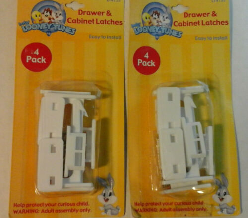 Baby Looney Tunes drawer & cabinet latches  4pk X2
