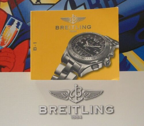 BREITLING B-1 PROFESSIONAL PILOTS WATCH INSTRUCTION MANUAL BOOK GUIDE BOOKLET P