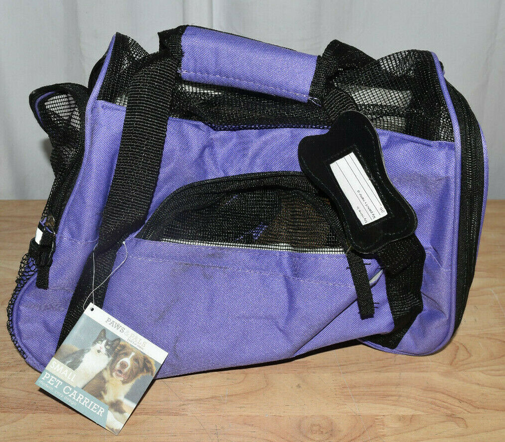 paws and pals purple pet carrier small