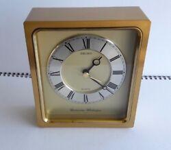 Vintage Seiko Brass Westminster Whittington  Desk / Mantle Clock-JAPAN