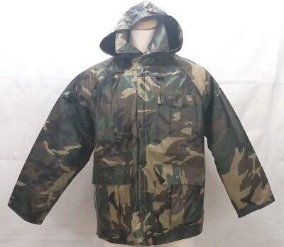 c547e52edfe52 Duck Bay Waterproof Hunting Jacket - Mens Size Medium - Camo Hood Fabric  Lining