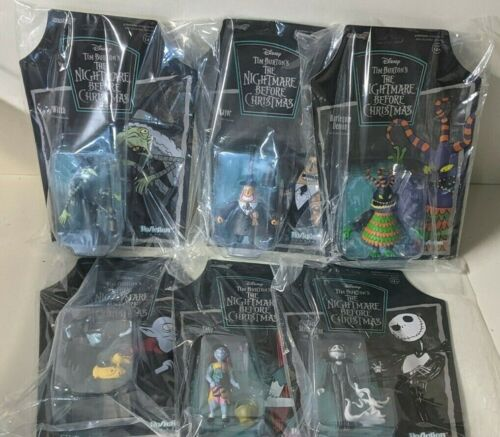 DISNEY THE NIGHTMARE BEFORE CHRISTMAS COMPLETE SET OF 6 FIGURES NEW AND SEALED