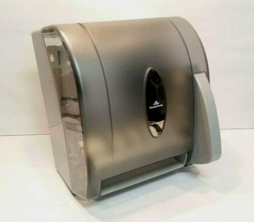 Georgia Pacific 54338 Push Paddle Paper Towel Dispenser - Translucent Smoke