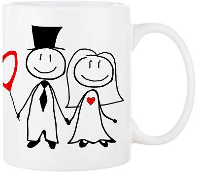 Kaffeetasse MR. & MRS. Hochzeitstasse Kaffeebecher Trinkbecher ❤︎ personalisiert