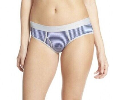 HONEYDEW Intimates 18680 Charlie Boy Brief Blue And Pink Stripes Size Large Blue Boy Brief