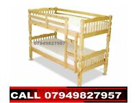 Wooden Bunk Bed Available With Semi Orthopaedic Mattress HGFYGU