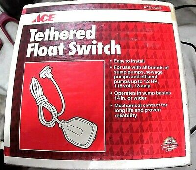 Ace Tethered Float Switch Ace 44999 New In Box Free Shipping