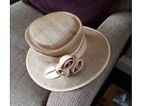Neutral Biscuit Coloured Special Occasion Hat